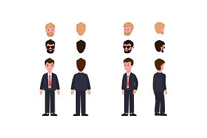 Character Collection of Items Vector Illustration
