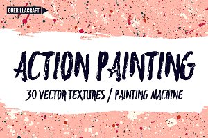 Action Painting Vector Textures