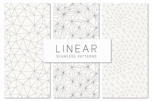 Linear Seamless Patterns Set