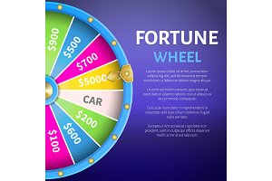 Fortune Wheel Poster, Place for Text Full Length