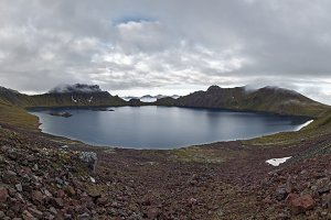 Panorama of scenery crater lake