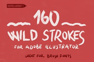 160 Wild Strokes for Illustrator