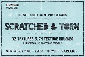 Scratched & Torn paper textures
