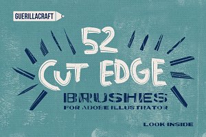 Cut Edge Brushes for Illustrator