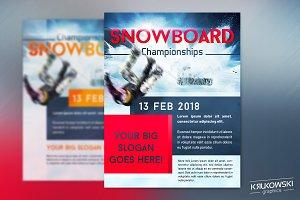 Snowboard Championships Sport Flyer
