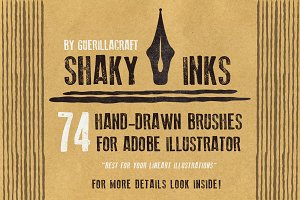 Shaky inks - brushes for Illustrator