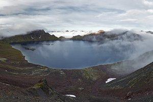 Scenery panorama lake landscape