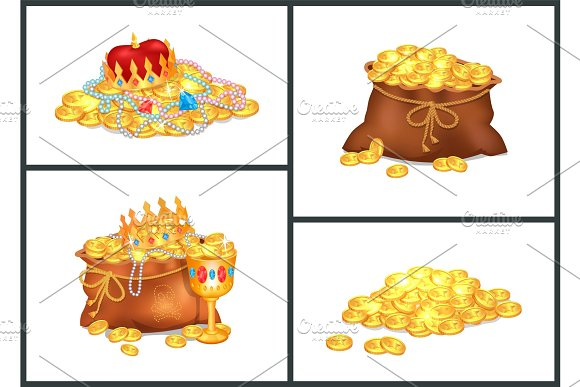 Treasure Collection Poster Vector Illustration