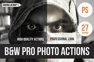 Black and white pro photo PS actions