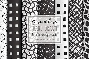 Hand Drawn Doodle Backgrounds V.6