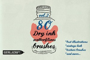Dry ink brushes VOL.2 scatter&lines