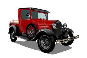 Vector retro truck