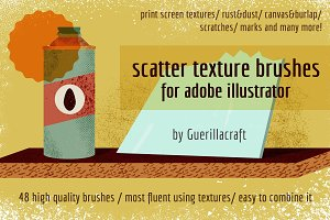 Scatter texture brushes for AI