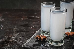 Arabic alcohol drink Raki