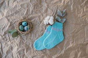 Easter holiday flat-lay