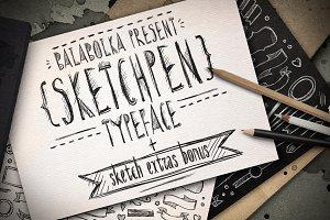 Sketchpen Typeface + Extras