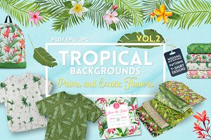 Tropical Design Backgrounds Bundle