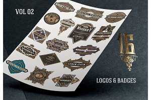 Set template of badges and logos