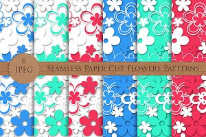 SALE! PAPER flowers seamless pattern