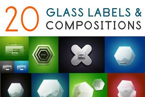 20 glass labels compostitions