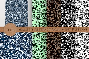 ABSTRACT ORNAMENT seamless patterns