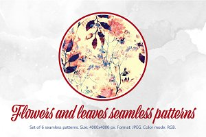 Sale :-) 6 floral patterns | JPEG