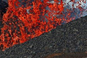 Natural hazard: eruption volcano