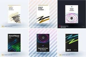 Set of design of brochure, abstract annual report, cover modern layout