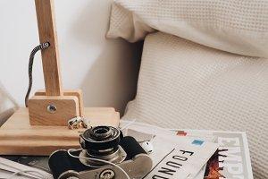 Magazine Stack on Bedside Bable