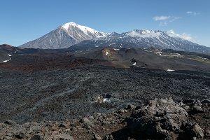 Summer volcanic landscape