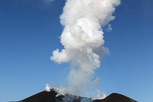 Eruption volcano landscape