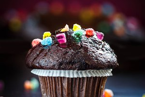 Delicious and funny Chocolate Muffin