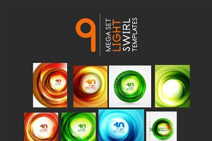 Swirl light backgrounds mega set