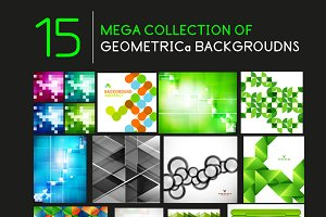 15 abstract geometric backgrounds