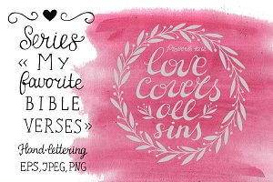 My favorite Bible verses Love Covers