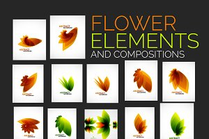 Flower elements and compositions