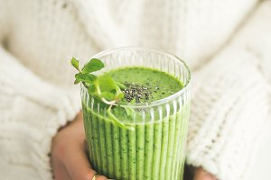 Matcha green vegan smoothie