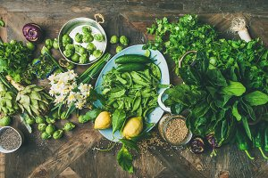 Healthy food cooking ingredients
