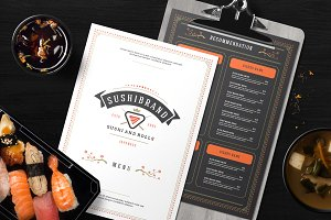 Sushi Menu Template and Logo
