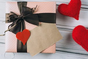 gift on Valentines day . box with re