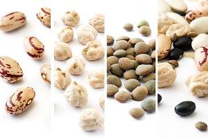 Legumes collage