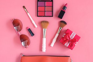 Make up cosmetic women.