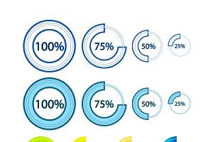 Preloader infographic elements