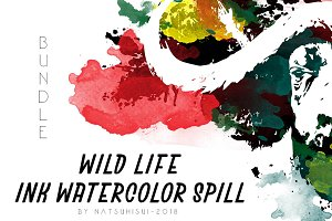 Wild life Ink - Watercolor Spill