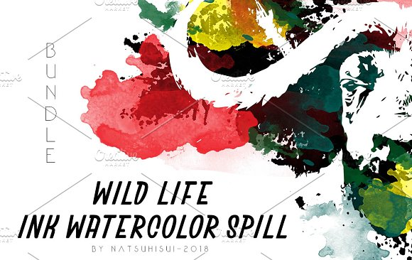 Wild Life Ink Watercolor Spill