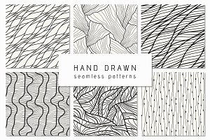 Hand-Drawn Seamless Patterns Set 1