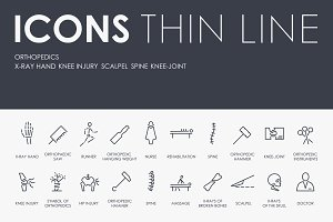Оrthopedics  thinline icons