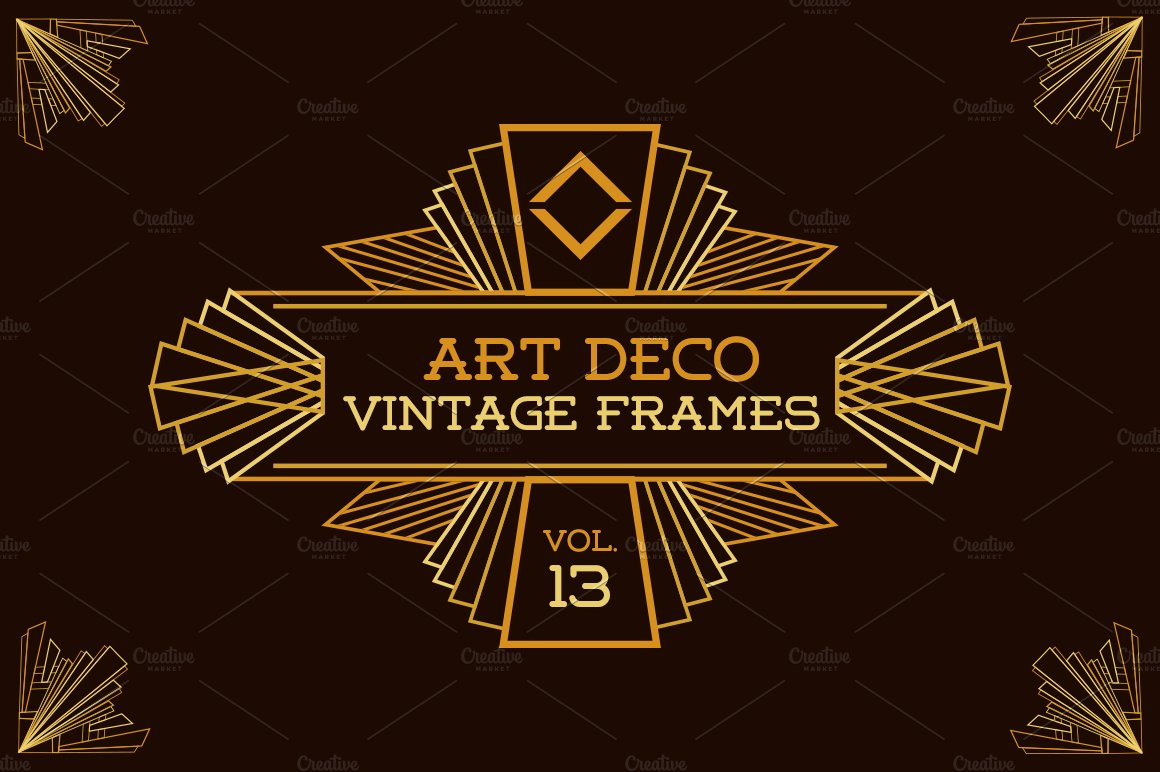 Art Deco Vintage Frames Vol13 Illustrations Creative