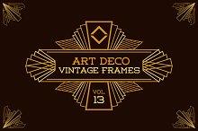 Art Deco Vintage Frames Vol13