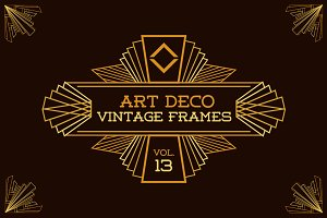Art Deco Vintage Frames Vol13